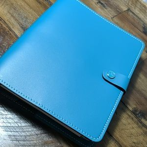 Filofax A5 Original Leather Dark Aqua Planner